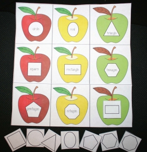 Apple Shape Matching Game
