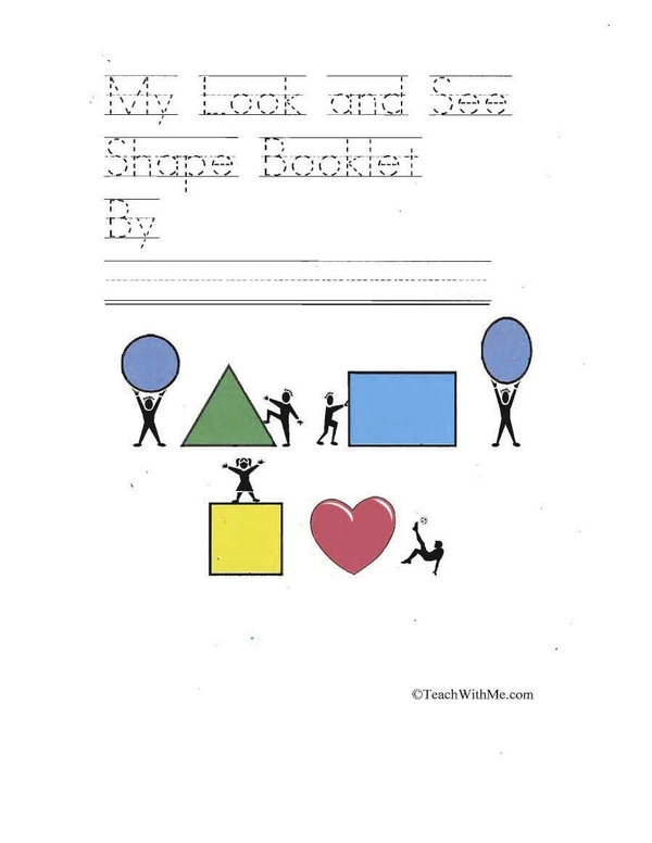Easy Reader Booklet: My Look And See Shape Booklet