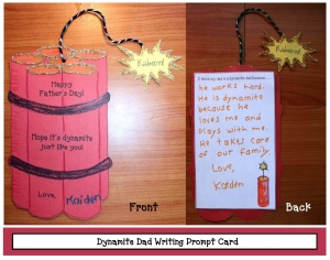 Dynamite Dad Father's Day Writing Prompt Craftivity