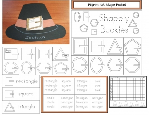 Pilgrim Hat Shape Craftivities