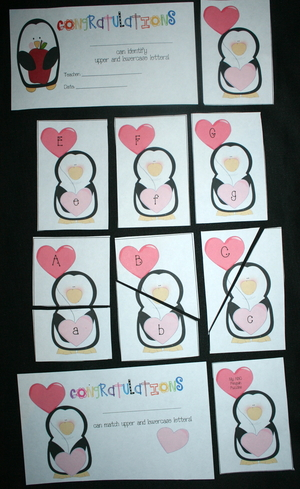 Penguin Letter and Puzzle Cards