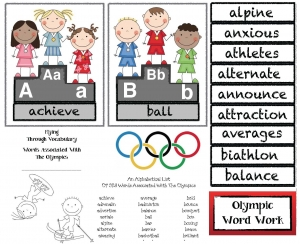 Olympic Alphabet Cards and Word Activities