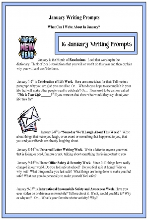 16 Writing Prompts For January