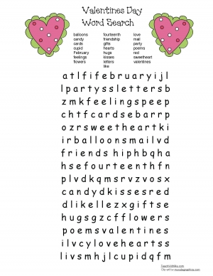 Valentine Word Find