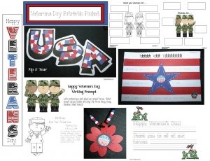 Veterans Day Crafts and Activities Packet