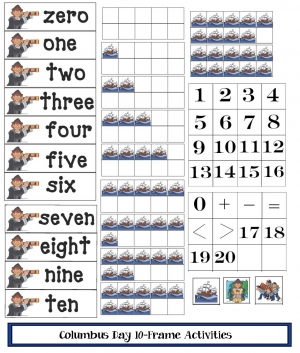 10 Frames For Columbus Day
