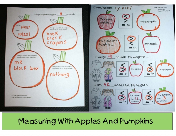 Measuring Apples and Pumpkins