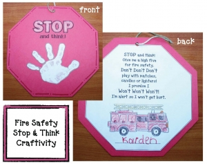 Stop and Think Fire Safety Craft