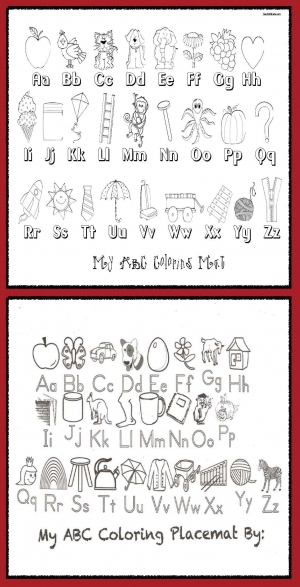 ABC Placemat Anchor Chart and Assessment Tool