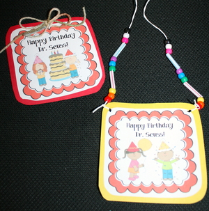Happy Birthday Dr. Seuss Necklace Badge