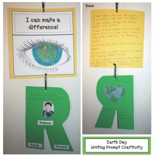 Earth Day I Can Make A Difference Writing Prompt Craftivity