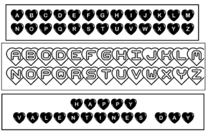 Uppercase Valentine Bookmark