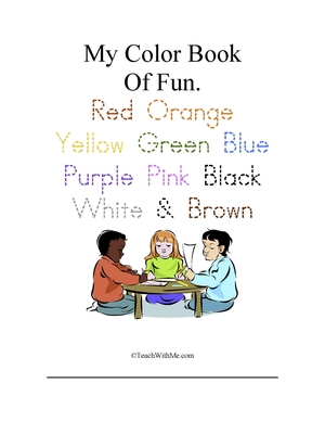 My Color Words Book Of Fun: Trace, Write, Cut & Glue