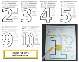 Pattern Block Number Booklet