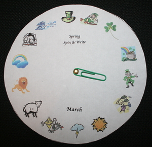 March Spin A Story Wheel