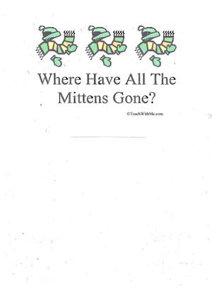 Booklet: Where Have All The Mittens Gone?