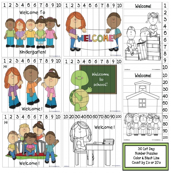 First Day Of School Puzzle Activity