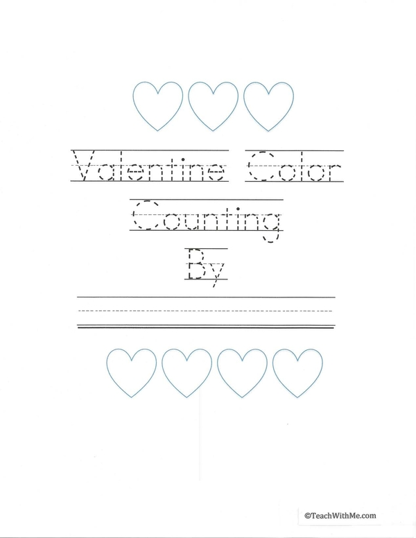Valentine Color Counting Booklet