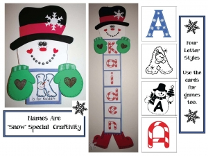 Winter Alphabet Craftivity