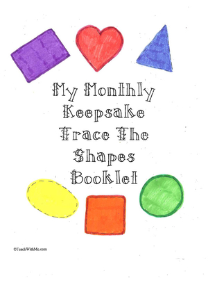 Monthly Seasonal Shapes Keepsake Trace The Shapes Booklet