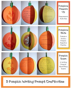 3 Pumpkin Writing Prompt Crafts