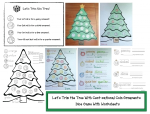 Let's Trim the Christmas Tree Coin Activities