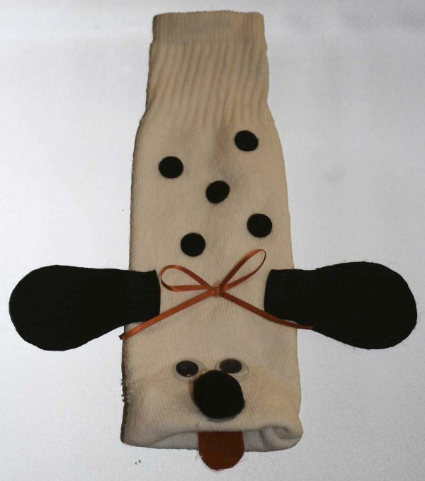 Dalmatian Sock Puppet For Fire Safety Fun