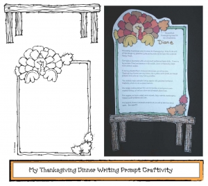 My Thanksgiving Dinner Writing Prompt Craftivity
