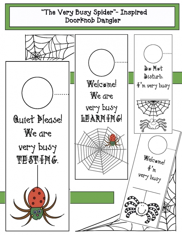 """The Very Busy Spider"" Inspired Doorknob Dangler"