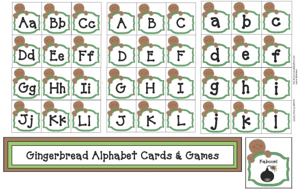 Gingerbread Alphabet Cards