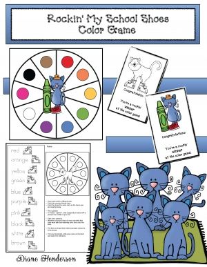 Cool Cat Colors Spinner Game