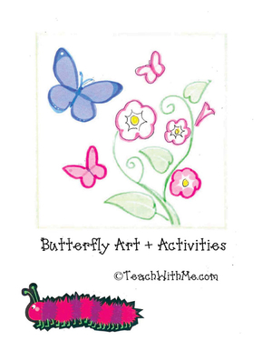 Butterfly Art + Activities Book I