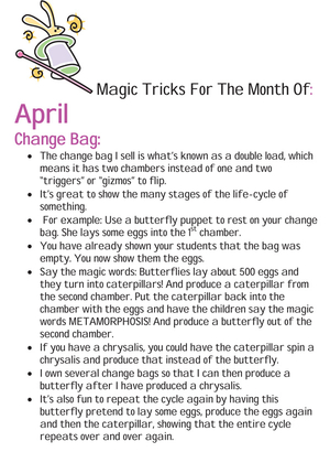Magic Tricks For April Free Article