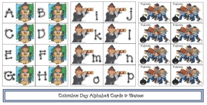 Columbus Day Alphabet Cards