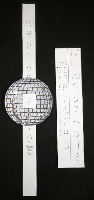 Happy New Year Countdown Glitter Ball
