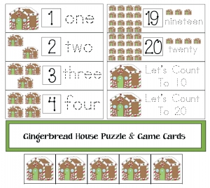 Gingerbread House Groups/Sets Packet