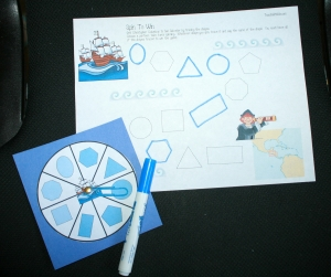 Oceans Of Fun Columbus-Shape Matching Game