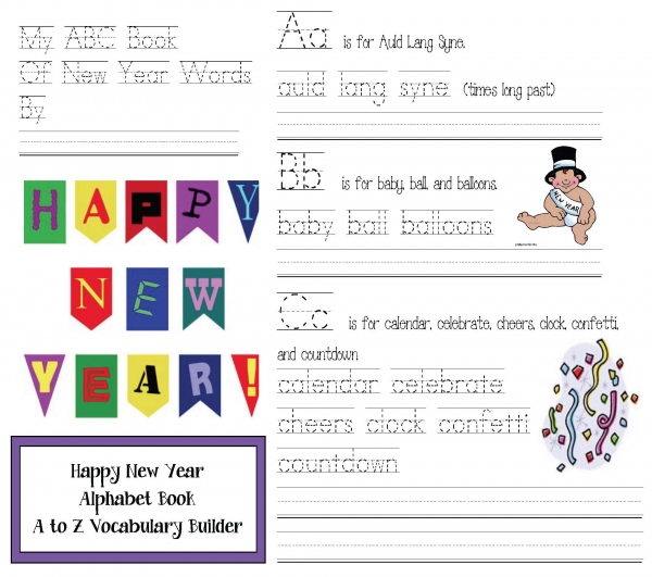 Happy New Year ABC Word Booklet