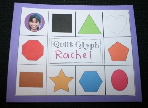 Back To School Shape Glyph Quilt