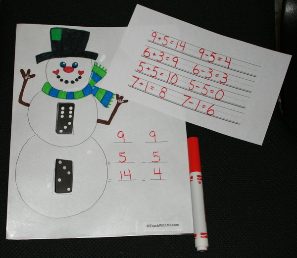 Dominic The Domino Snowman PK-1st Math Game