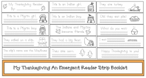 My Thanksgiving An Emergent Reader Strip Booklet