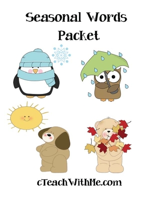 Seasonal words Packet