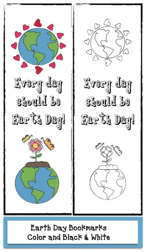 Every Day Should Be Earth Day bookmarks