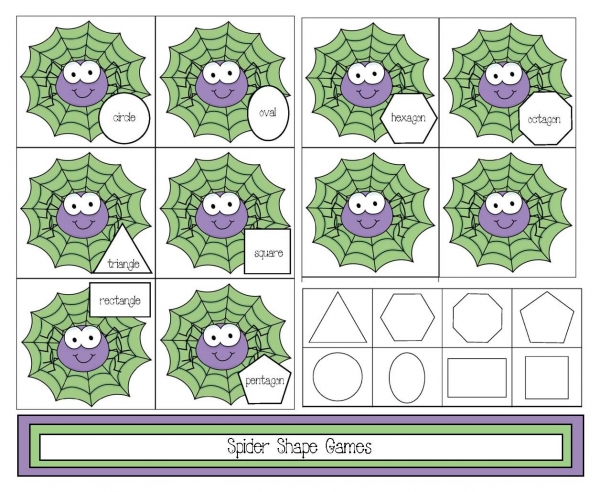Spider Shape Games