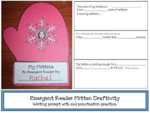 Emergent Reader Mitten Craft