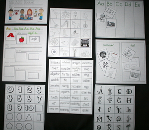 Alphabet Picture and Word Packet