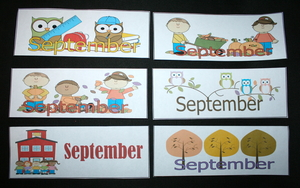 Calendar Cards For September